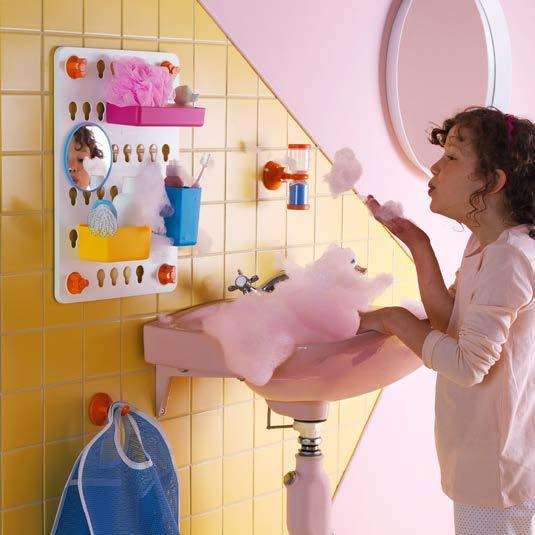 IKEA PRESS KIT / OCTOBER 2016 / 10 PH138596 LÅDDAN STORAGE BOARD & BAG To help make bathroom time a little easier when living with kids, the designers Sarah Fager and Maria Vinka drew from their own
