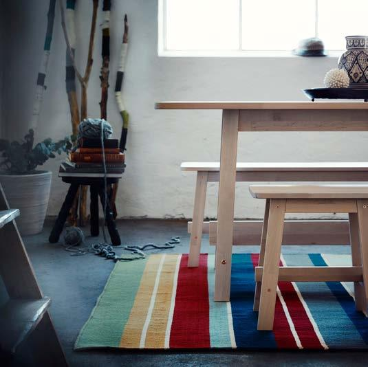IKEA PRESS KIT / OCTOBER 2016 / 22 PH138644 RAVNSÖ RUG Striped in some warm autumn colours, RAVNSÖ rug breathes of traditional Scandinavian style and came about after designer Synnöve Mork visited a