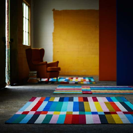 IKEA PRESS KIT / OCTOBER 2016 / 24 PH138640 HALVED RUG Striped in twelve different colours, HALVED rug creates a colourful statement in connection to a sofa or dining table.