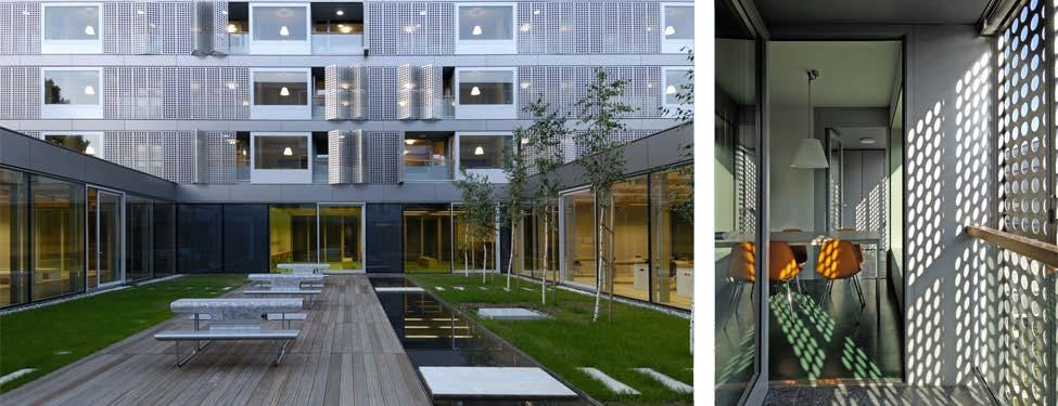 The building s massing was generated in response to several site forces, including solar exposure and views to ensure the courtyard is an attractive space for residents to use; residents move from