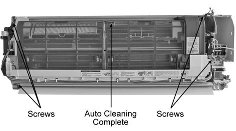 14. Remove the Auto Cleaning Complete by releasing the 5 screws.