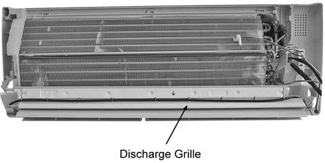 8 16. Pull out the Drain Hose (behind the Discharge Grille) from