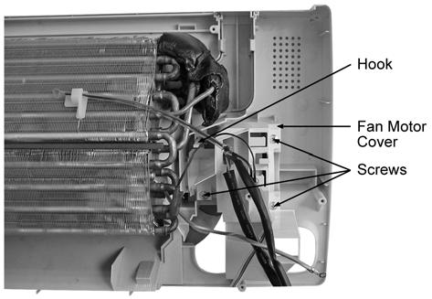 Release the 3 screws Fan Motor Cover. (Fig. 11) 18.