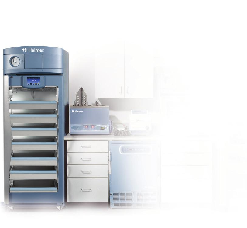 Blood Bank Refrigerators Helmer has provided high-quality laboratory equipment and refrigerated products for over 30 years.