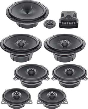 "5 SERIES Ultra flat size for no limit installations Water repellent pressed paper cone PEI angled dome tweeter Grilles included (ECX690.5 and components) ESK165.5 ESKF165.5 ET26.5 6.5"" Energy."