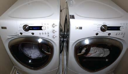 Front loading washers use nearly 40 percent less water and 50 percent less energy than top loading machines. About 90 percent of the energy used when washing clothes is for water heating.