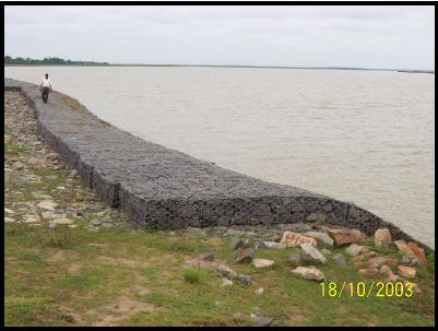 An attempt has been made herein to elaborate the utilization of mechanically woven steel wire mesh products to provide solution to river training works Longitudinal Structures (Lining of bed and