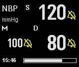 13 NON-INVASIVE BLOOD PRESSURE As soon as you turn the interval mode on, the monitor starts an NBP measurement.