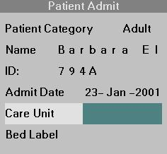 CARE UNIT AND BED LABEL ASSIGNMENTS Care Unit and Bed Label Assignments If the wireless network has a central station, you can enter the monitor s Care Unit and Bed Label assignments in the Patient