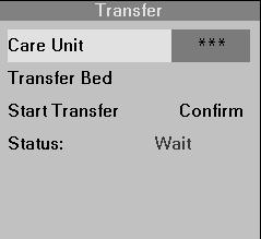 DATA TRANSFER 4. Click on Care Unit. Selection *** is the default and automatically selects all care units.