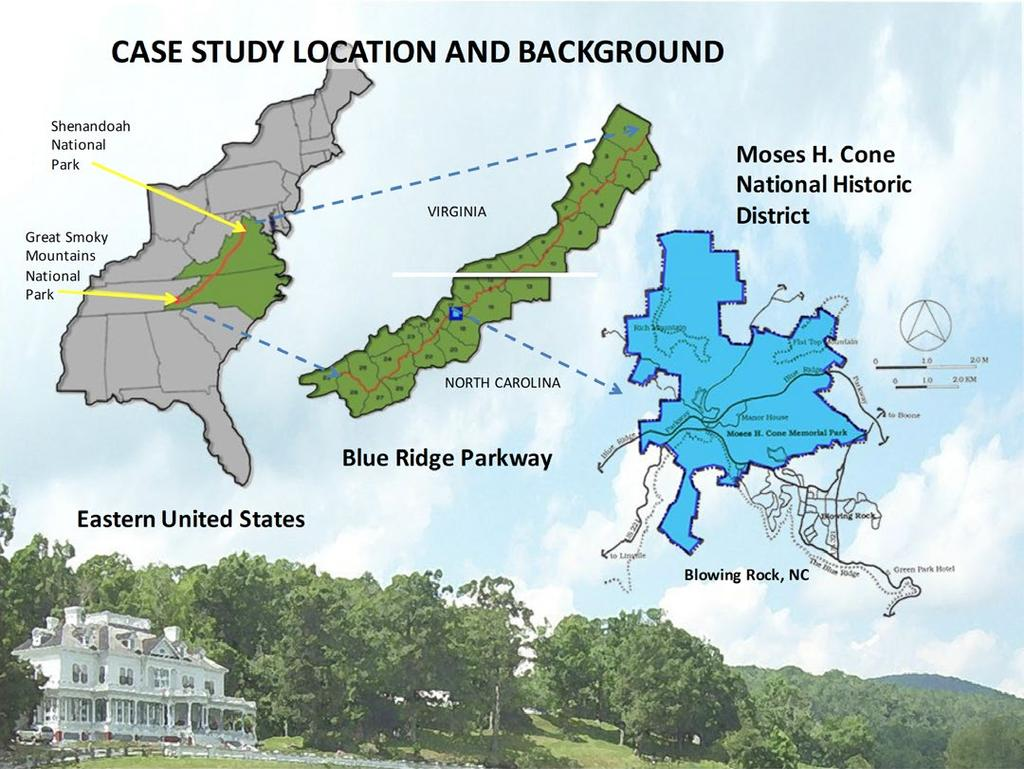 CASE STUDY LOCATION AND BACKGROUND This case study presents a methodology that was applied in preparing a developed area management plan (DAMP) for the Moses H.