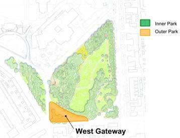 West Gateway Assessment: Following are the key physical assets and liabilities related to the West Gateway: Assets: - Highly visible west gateway from the Howard Street corridor - Adjacent to Wyman