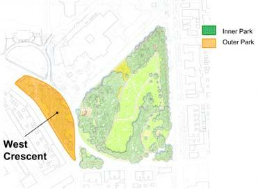 West Crescent Assessment: Following are the key physical assets and liabilities related to the West Crescent: Assets: - Attractive wooded buffer between residential area and the institutions of Johns