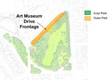 Art Museum Drive Frontage Assessment: Following are the key physical assets and liabilities related to the Art Museum Drive Frontage: Assets: - BMA plans to reopen main entrance off of Art Museum