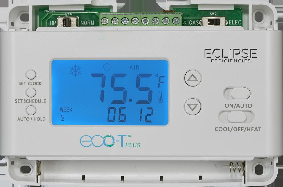 Eclipse Efficiencies eco-tplus Operation Guide. Programmable Single Stage Compressor and Heater Thermostat with Heat Pump. January, 2017 BEFORE INSTALLATION, DO A SIMPLE SYSTEM CHECK.