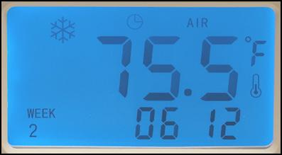 36. To manually adjust the room temperature setting up or down, the thermostat must be in the Manual Mode first indicated by the index finger symbol. Normal Operations 37.