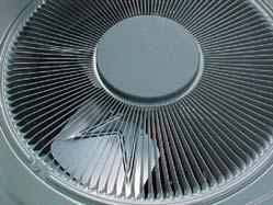 4 th Budget Period During the 4th budget period, researchers developed baseline data for the fan power use in a standard condensing unit (Trane 2TTR2036) and tested a new prototype design: Design A5