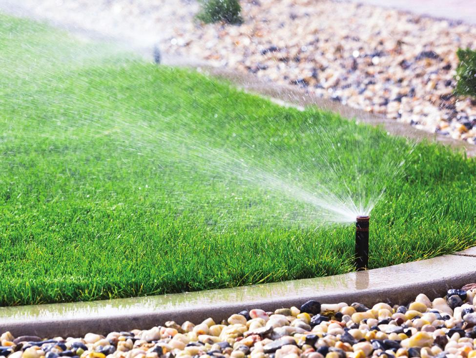 Greywater systems reuse water from the home. Lawn sprinkler systems can use this water.