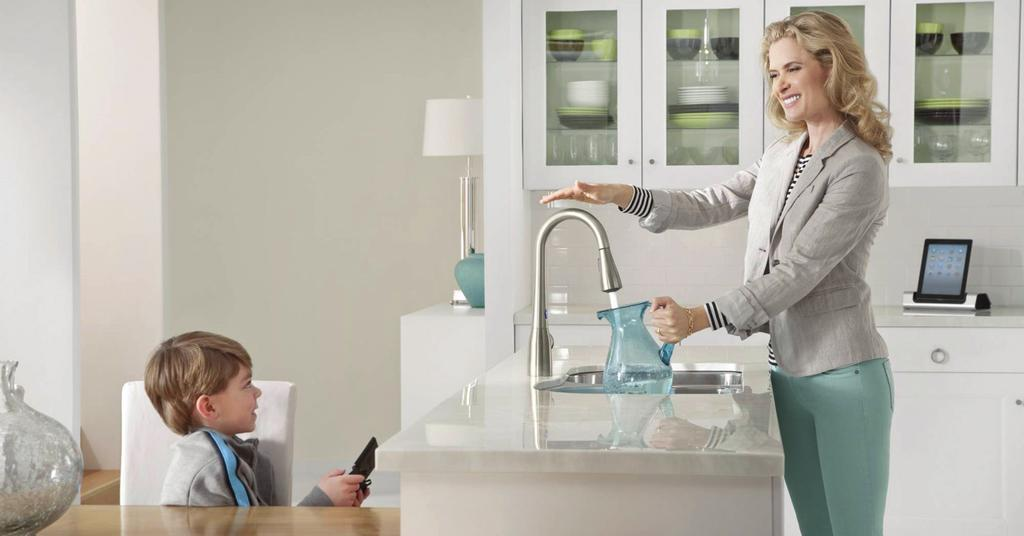 Photo Courtesy of Moen For the individual who spends a lot of time in the kitchen, touch-free faucets allow for easy access to water without spreading germs.