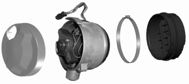 1 2 3 4 5 Fig. 4 1-Air inlet chamber cover 2-Fan motor 3-Combustion air fan 4-Clamp 5-End cover 3.4 Control unit 3.4.1 Structure(Fig.
