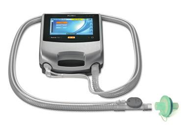 Attaching a Heat Moisture Exchange (HME) To patient An HME can be used with the Astral device with a double limb circuit or single limb circuit with integrated valve.