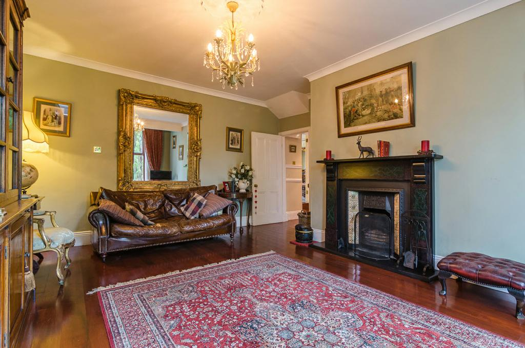 The Property Comprises: Glazed front door to... ENTRANCE PORCH: Original tiled floor, picture rail, glazed door with glazed side and over panels to.