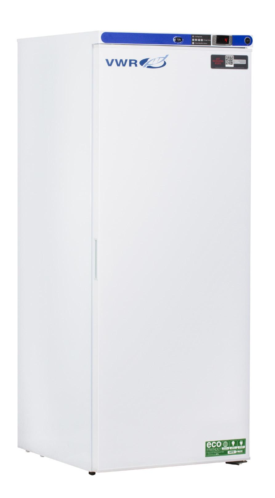 VWR SERIES VWR COMPACT LABORATORY REFRIGERATORS 1 to 10 C Uniform forced air Single glass and solid door configurations available 2/5 Warranty Two-year parts and labor warranty, five years on