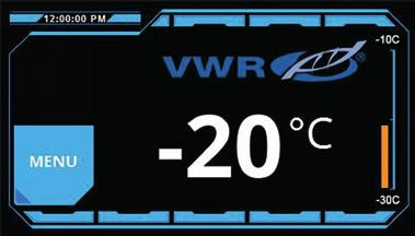 VWR PERFORMANCE SERIES MANUAL DEFROST LABORATORY FREEZERS -15 to -25 C (for -20 C models) -27 to -33 C (for -30 C models) Upright units feature Direct-cool fixed evaporator shelves with aluminum