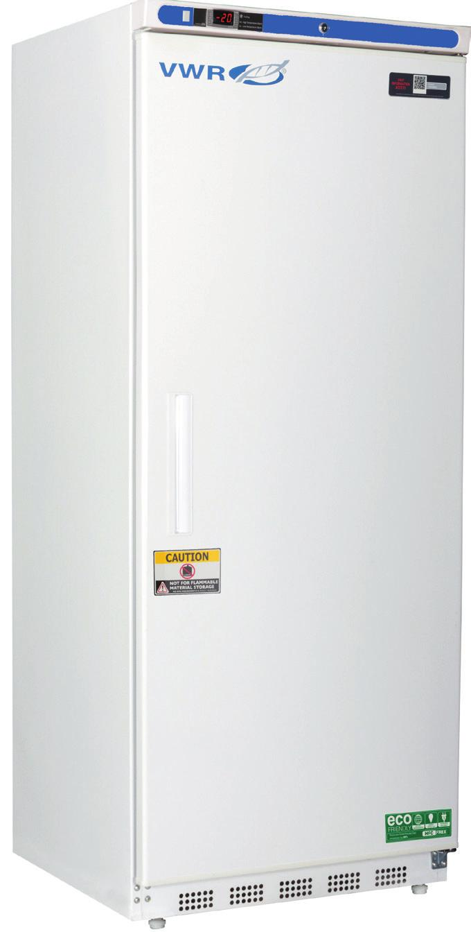 VWR SERIES MANUAL DEFROST LABORATORY FREEZERS WITH NATURAL REFRIGERANTS -15 to -25 C Environmentally friendly natural hydrocarbon refrigerants which vastly reduce global-warming potential while