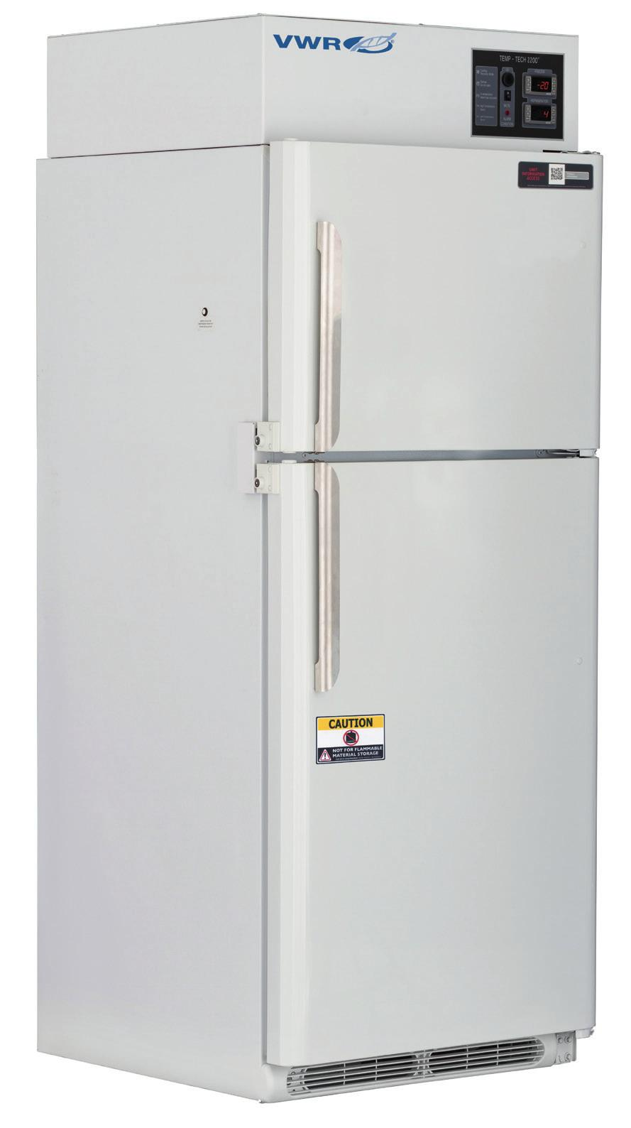 100% INDEPENDENT DUAL LABORATORY REFRIGERATOR / FREEZER COMBO Accessories Data loggers Extra shelves Standard features include a microprocessor temperature controller for superior temperature