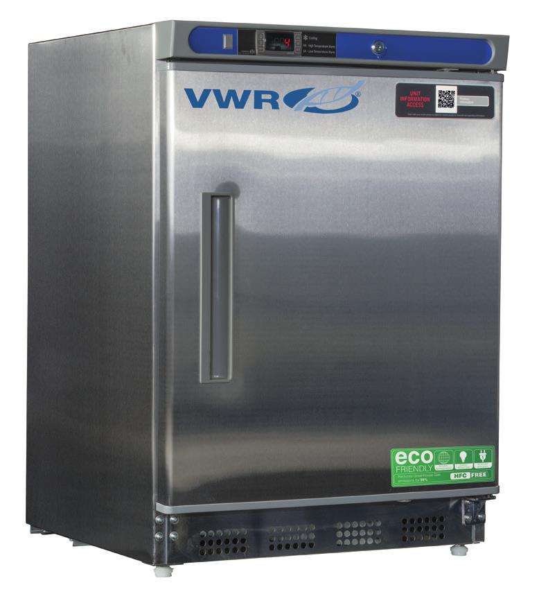 10819-886 10819-890 VWR SERIES BUILT-IN UNDERCOUNTER REFRIGERATORS & FREEZERS WITH NATURAL REFRIGERANTS 1 to 10 C [Refrigerator] -15 to -25 C [Freezer] Uniform forced air directional cooling with