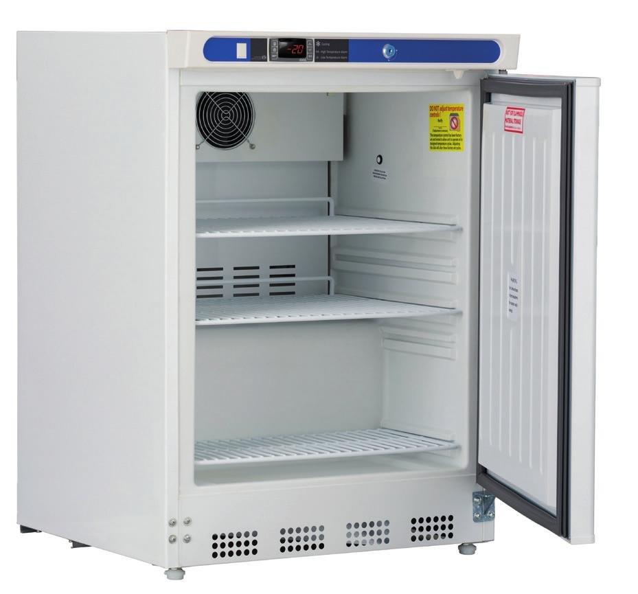 locks, probe access port, UL/C-UL listed Disclaimer: Auto defrost freezers incorporate an electric heater installed on the evaporator that assist in the removal of the frost and ice.