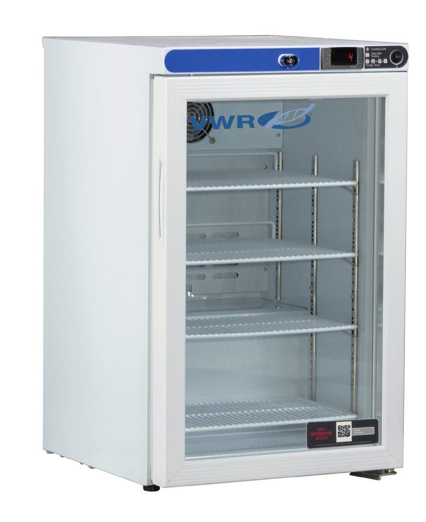 10819-872 10819-892 VWR SERIES FREESTANDING UNDERCOUNTER/ TABLE TOP REFRIGERATORS & FREEZERS WITH NATURAL REFRIGERANTS 1 to 10 C [Refrigerator] -15 to -25 C [-20 model] -27 to -33 C [-30 model] -37