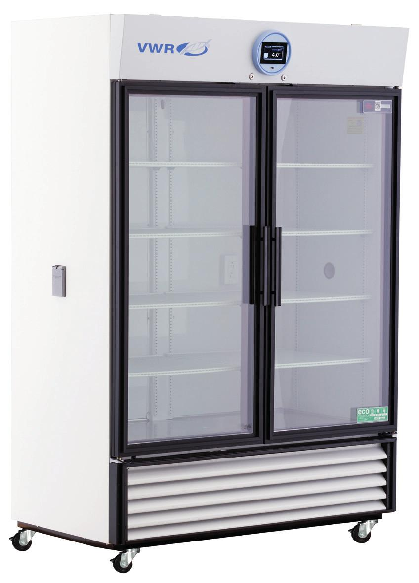 VWR PERFORMANCE SERIES CHROMATOGRAPHY REFRIGERATORS WITH NATURAL REFRIGERANTS 1 to 10 C Uniform forced air Directional cooling with oversized evaporators and condensers Glass and solid door options