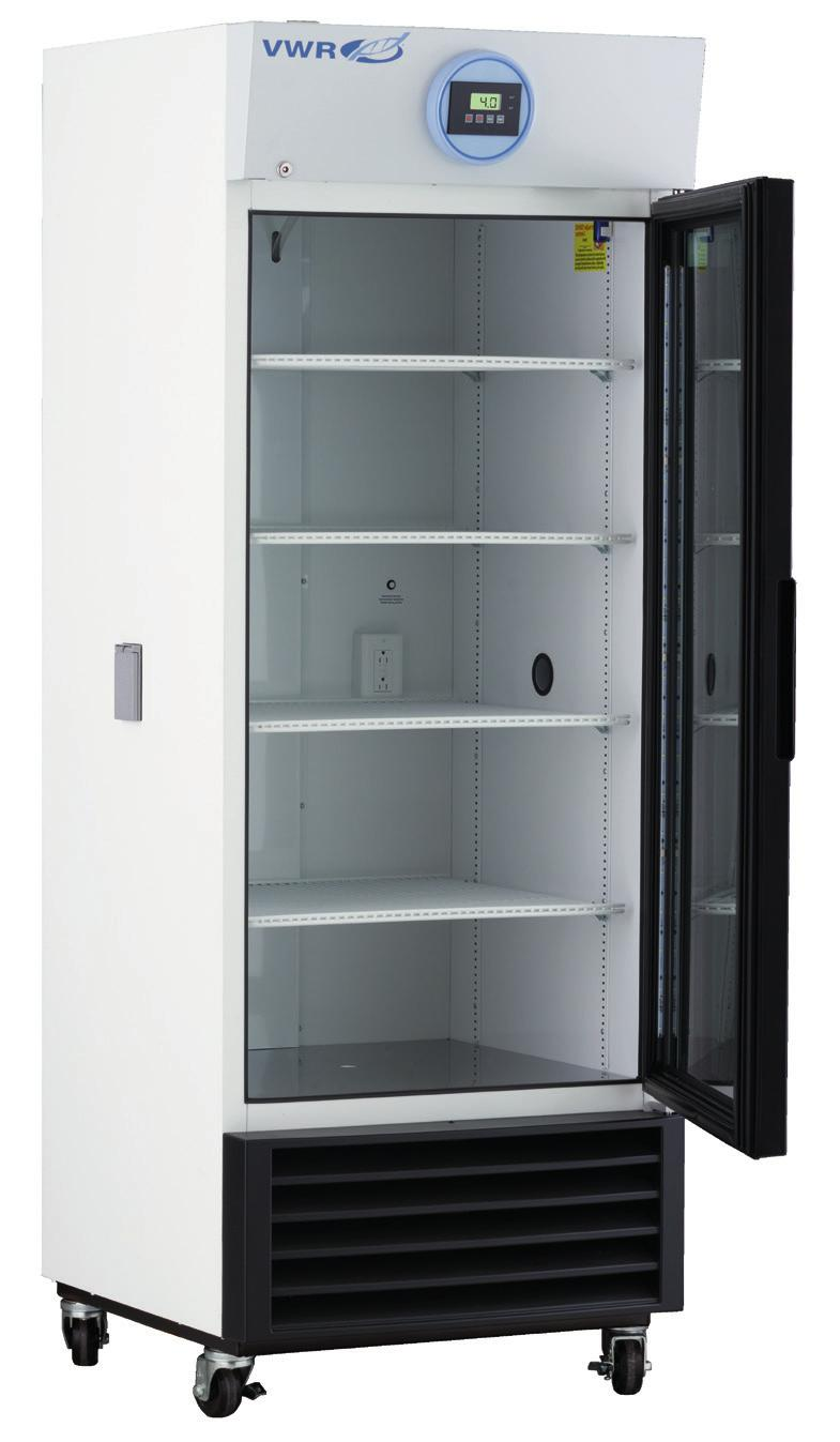 VWR SERIES CHROMATOGRAPHY REFRIGERATORS WITH NATURAL REFRIGERANTS 1 to 10 C Uniform forced air Directional cooling with oversized evaporators and condensers Glass and solid door options available in