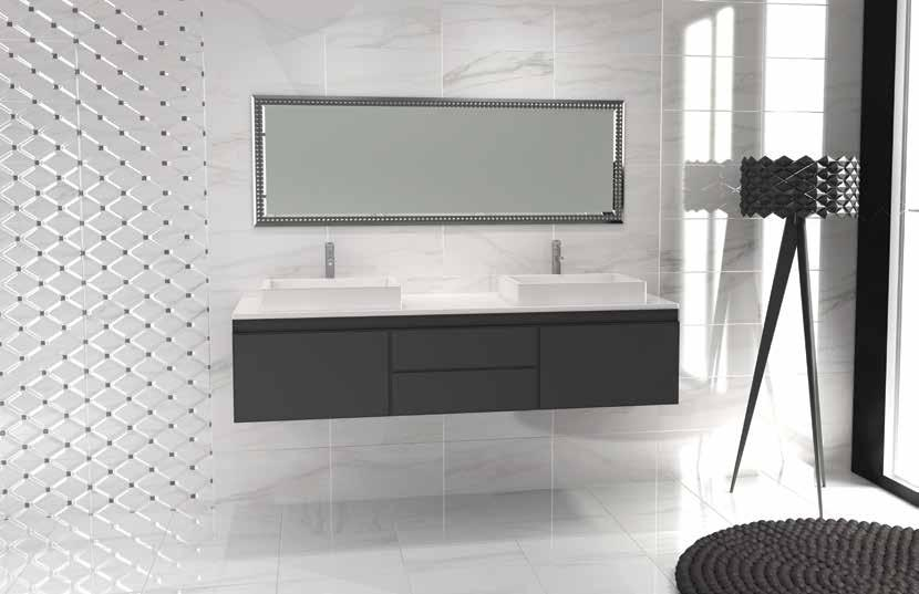 Azur Collection Material: Ceramic Use: Bathroom Size: 250x500mm Shade Variation: