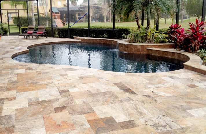 CAPPADOCIA Exterior Collection Available In: PAVERS: 6X12, 24x24, FRENCH PATTERN - COPING: 12X12 - WATERLINE