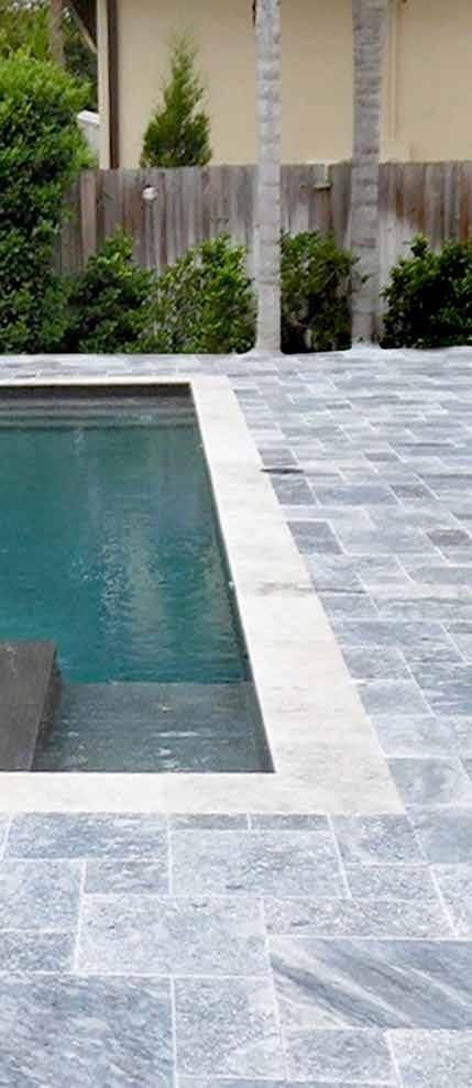 Available In: PAVERS: 6X12, FRENCH PATTERN REMODEL COPING : 4X9 Ocean Blue Pavers are one of a