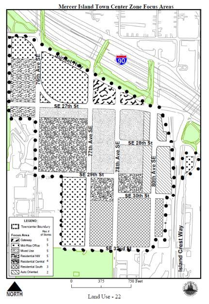 Figure 3 - Town Center Development and Businesses Housing Element: GOAL 1: To ensure that single family and multi-family neighborhoods provide safe and attractive living environments, and are