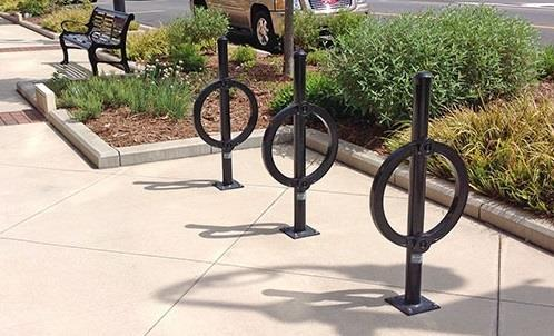 Downtown Streetscape Amenities Bike rack and bollard