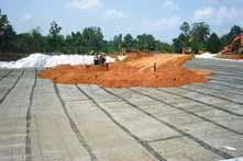 reinforcement of high embankments Basal reinforcement over piles Basal reinforcement for