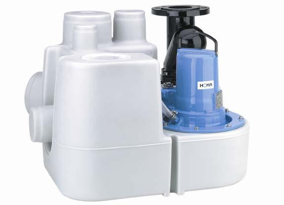 SANISTAR 105W Compact single pump sewage disposal unit with Integrated swing check valve Sanistar is suitable for pumping sewage and waste water from toilets, hand basins, showers and from rooms