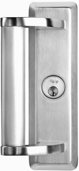new product Yale Commercial Locks and Hardware is pleased to announce the availability of offset pull handles for the 7000 Series Exit Device.