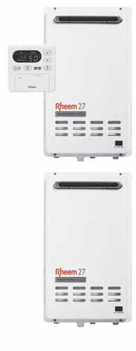 Rheem EZ Link 290141 Suitable for use with all Rheem 12,16, 20 and 27 L/min Continuous Flow gas water heater models Flexible delivery of up to 54 L/min Staged heating, so energy usage corresponds