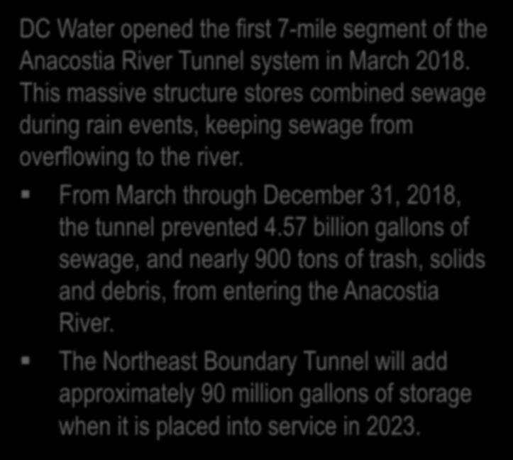 This massive structure stores combined sewage during rain events, keeping sewage from