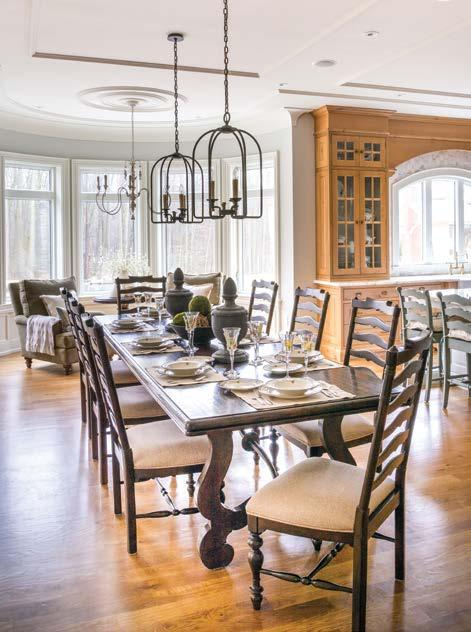 They seem to be more thoughtful in their design and building choices when it comes to accommodating a family. In terms of style, the homeowners knew they wanted a home with an English country feel.