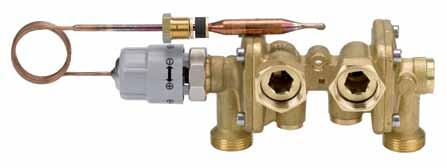 What is the EvoFlat system solution? 3.5.2 Domestic hot water control valve PTC2+P PTC2+P Flow-compensated temperature controller with integrated differential pressure controller (NC).