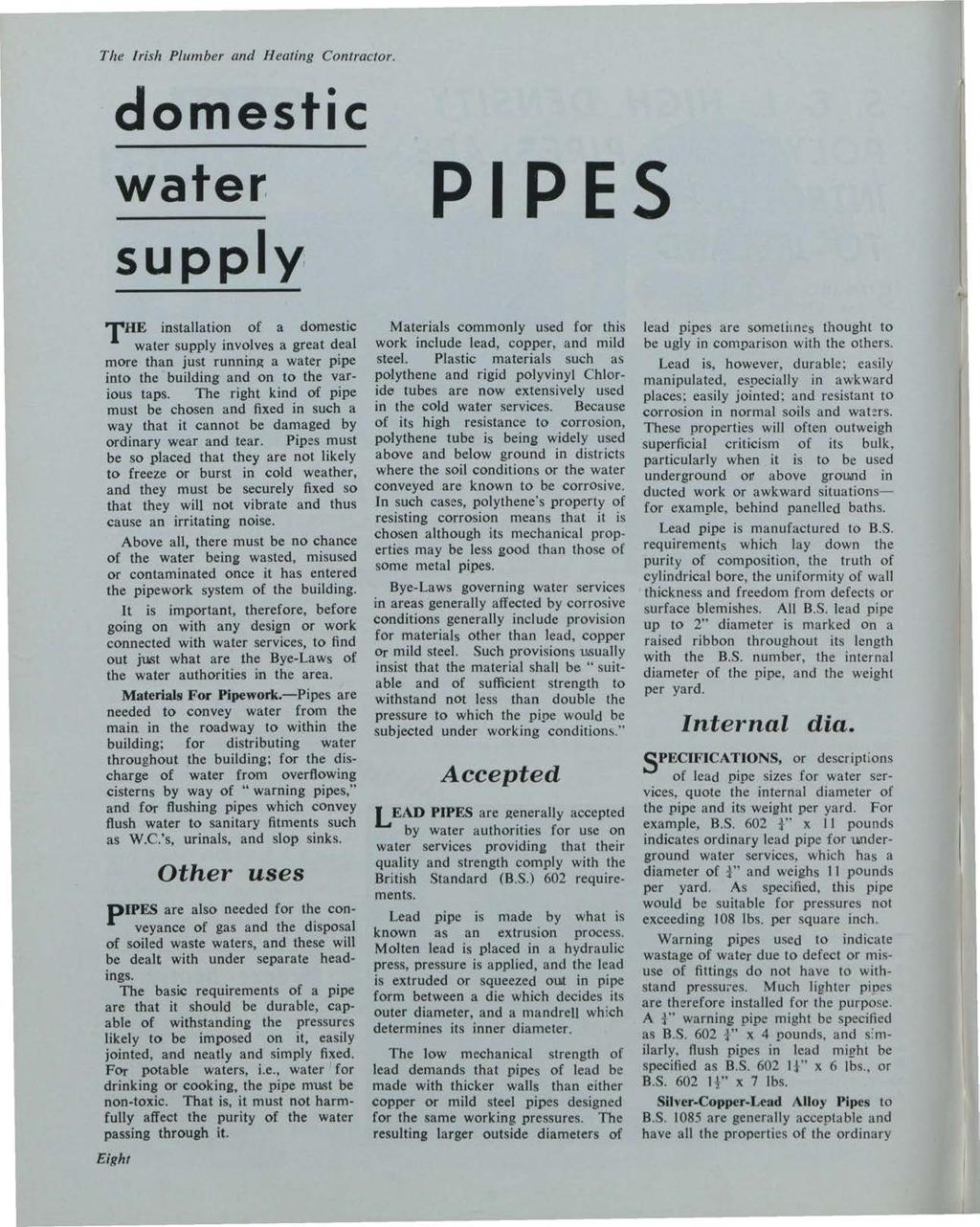 The Irish Plumber and Heating Contractor. Building Services News, Vol. 2, Iss. 12 [1963], Art.