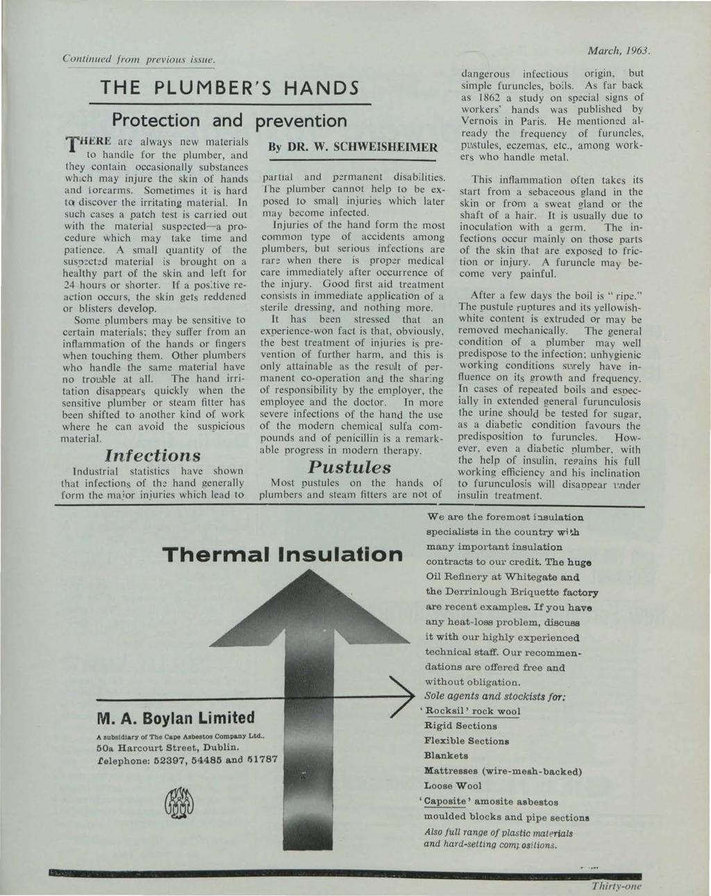 et al.: The Irish Plumber and Heating Contractor, March 1963 (complete is Continued /roll/ previou.1 issue.