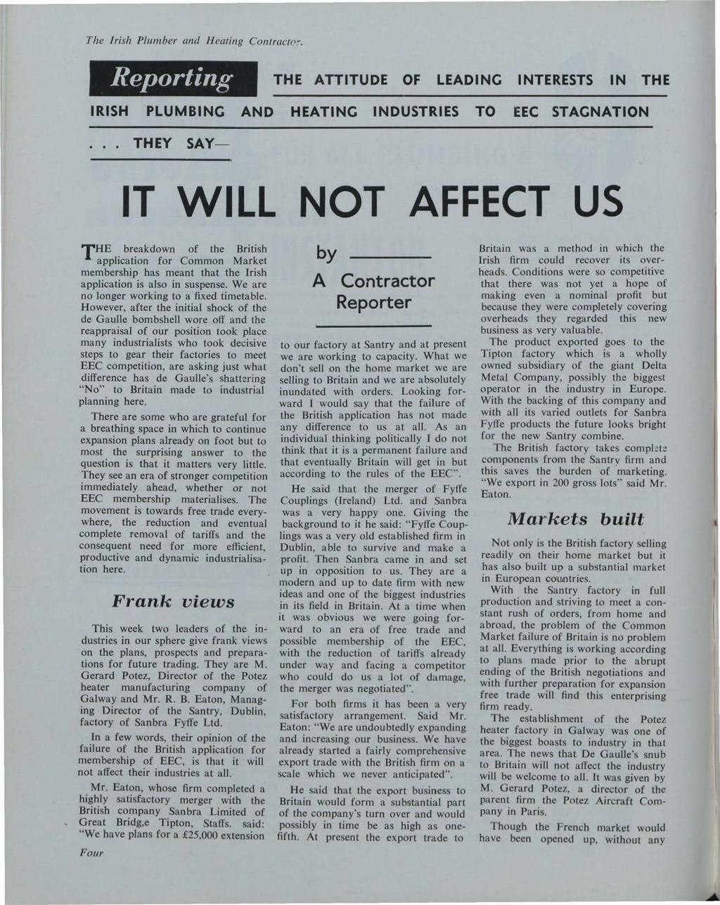 Building Services News, Vol. 2, Iss. 12 [1963], Art. 1 The Irish Plumber and Heating Contractr> :-.